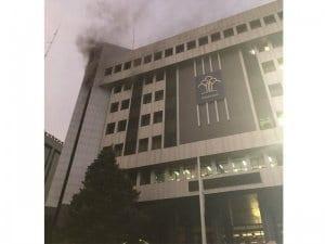 Kebakaran Gedung Kemenkumham - Gedung Kemenkumham Terbakar