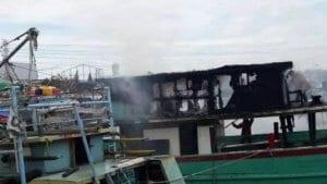 Pelabuhan Muara Angke - Kebakaran Kapal Nelayan